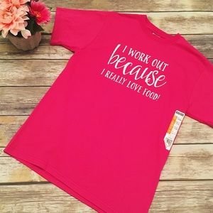Tops - 💗NWT! Super Cute Hot Pink T-shirt/ Exercise Top